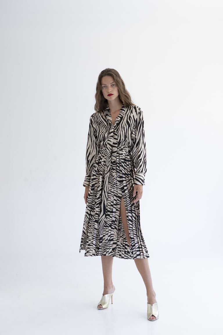 TWENTY-29 ZEBRA MAXI DRESS