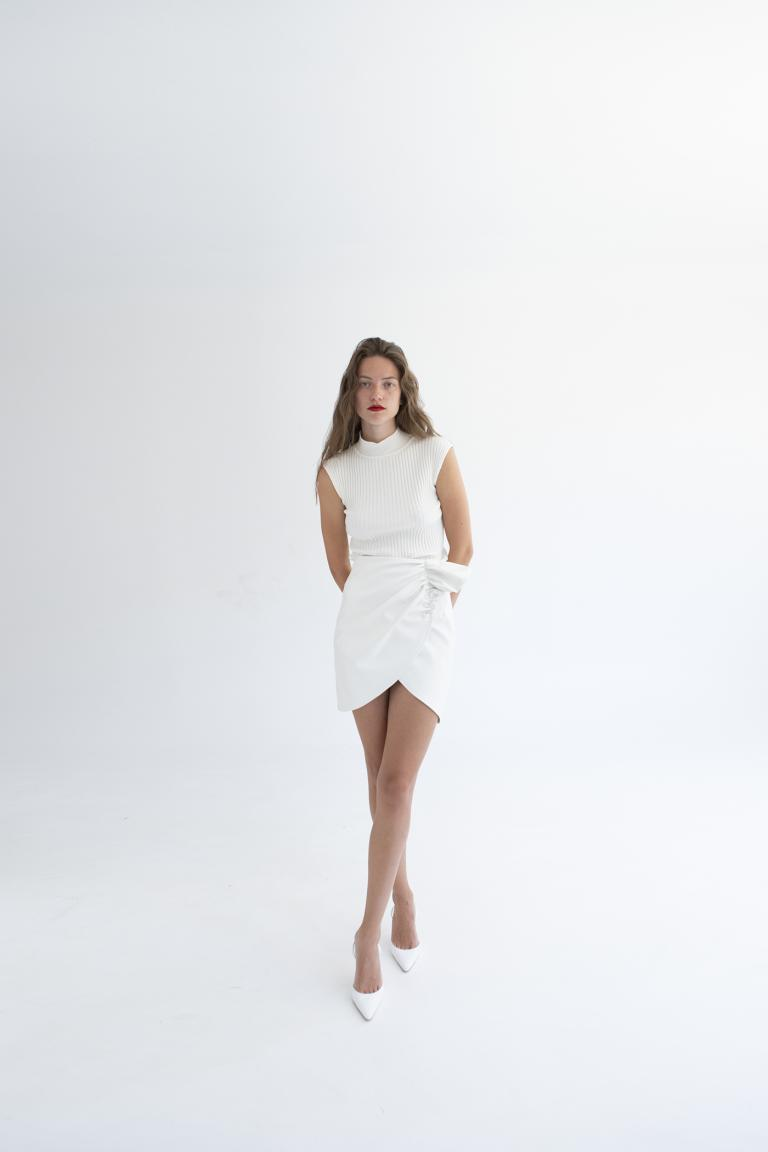 TWENTY-29 LETAHER MINI SKIRT
